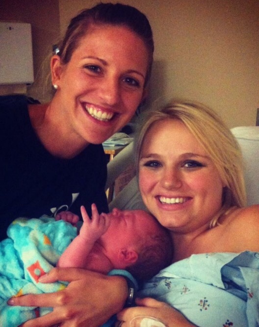 Katie Terry, CLD and Krista Trotter CLD with Baby John Henry